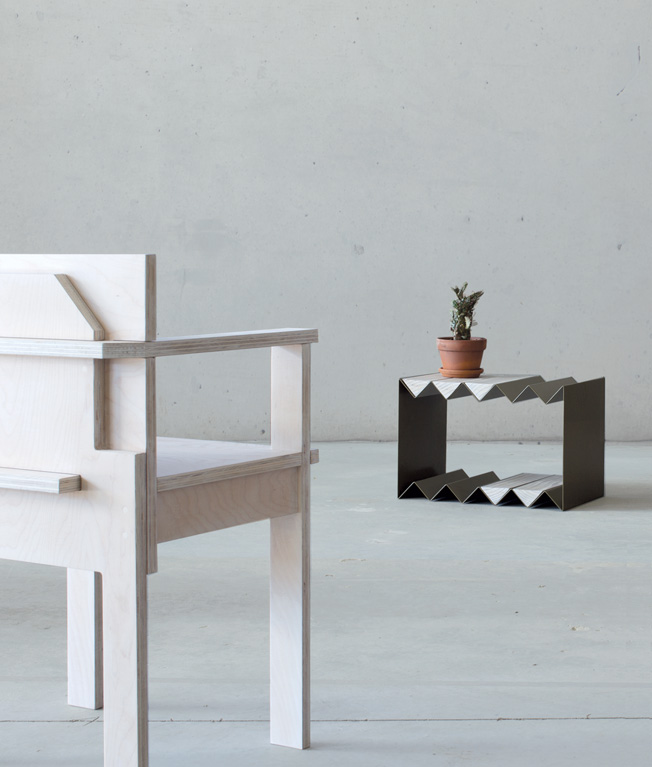 'Slab' chair and 'Zig Zag' table by Page Thirty Three.