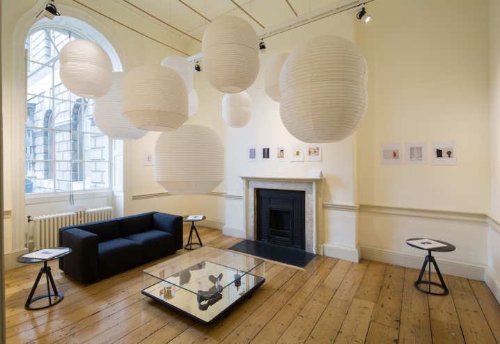 House of Barber Osgerby.....at Somerset House - sofa and side tables for Knoll but the exciting new items are the 'Hotaru' pendant lights for Japanese paper lantern experts Ozeki.