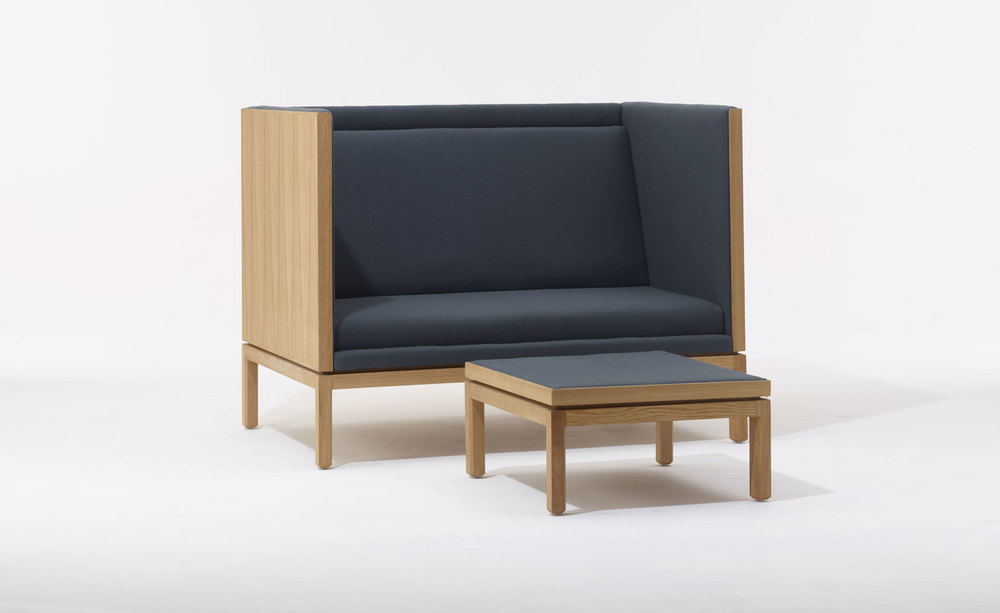 Far more restrained but also for SCP was the first furniture release by the highly acclaimed lighting designer Michael Anastassiades. Shown is his 'Rochester' sofa and ottoman.