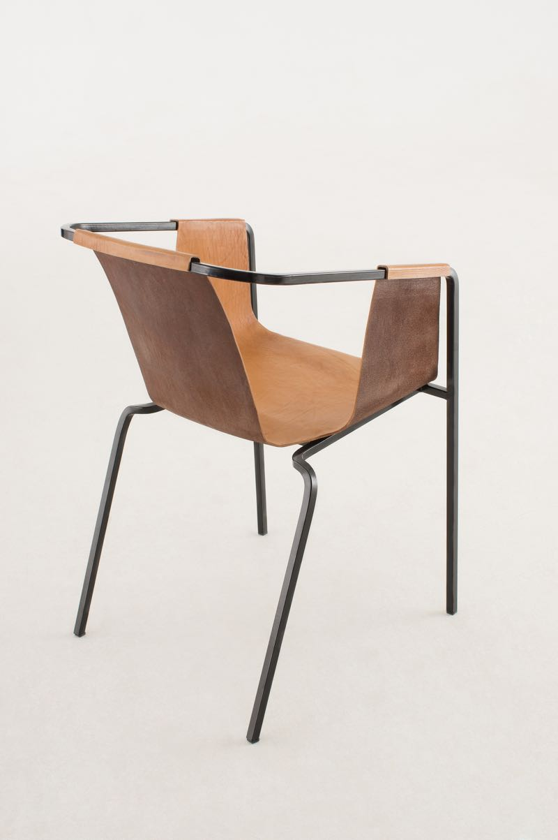 Rear view of the 'Duo' chair by Kätlin Eskla. Photo by Juri Seredenko.
