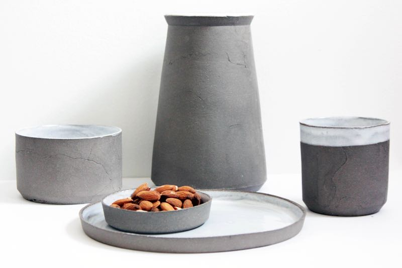 The 'Mineral Collection' from The Ceramicists - a new London based design consultancy launched in 2014. The vessels are tactile and earthy and well priced £120 for the full set.