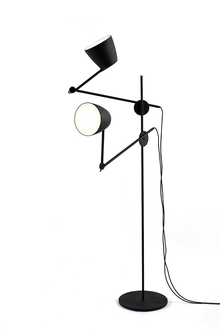 Nir Meiri's Black Swan' floor lamp.