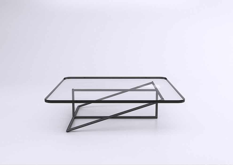 The 'Stan' coffee table 2014. A visual play on intersecting lines and balance.