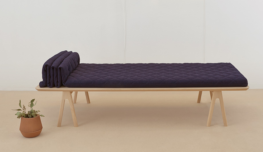 MSDS studio from Toronto launched their 'Futon' daybed at the Stockholm Furniture Fair in February.