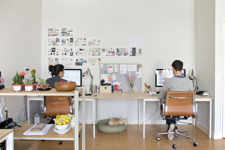Studio WM's founders, Wendy Legro and Maarten Collignon in their Rotterdam studio.