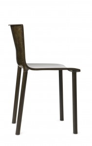 Francois Azambourg's Lin 94 chair from 2009 a combination of flax and plant-based resin.