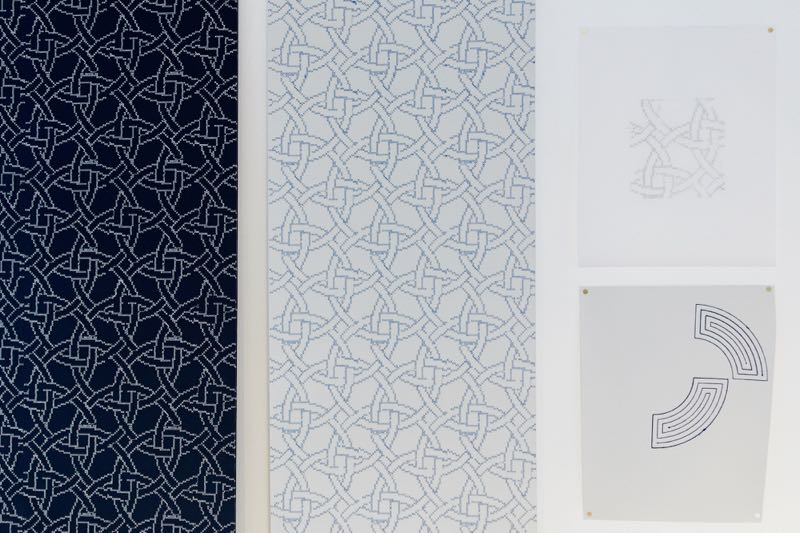 Studies for Custhom's 'New Cross' embroidered wallpaper.