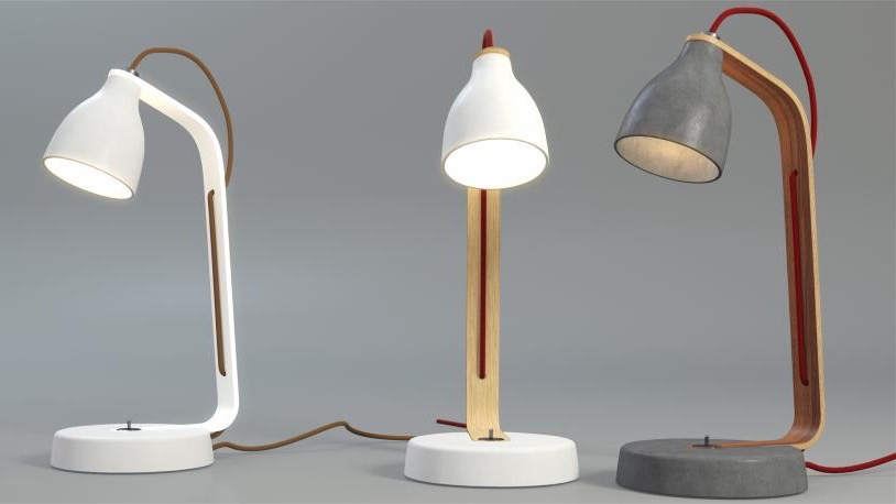 Hubert's 'Heavy' desk lamp for Decode London from 2009. The concrete and plywood design is also available as a pendant light. An instant success, it started Hubert's career in the interior sector on a high.