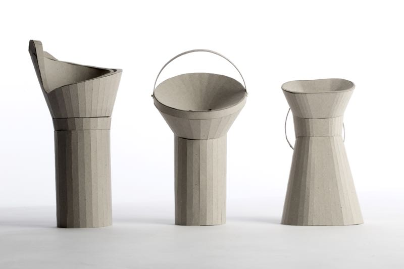 The models for the Maggie's cancer charity coin collection box project are all beautifully sculptural but only one could be chosen. The one on the right got the go ahead for its open soft look and ease of handling.