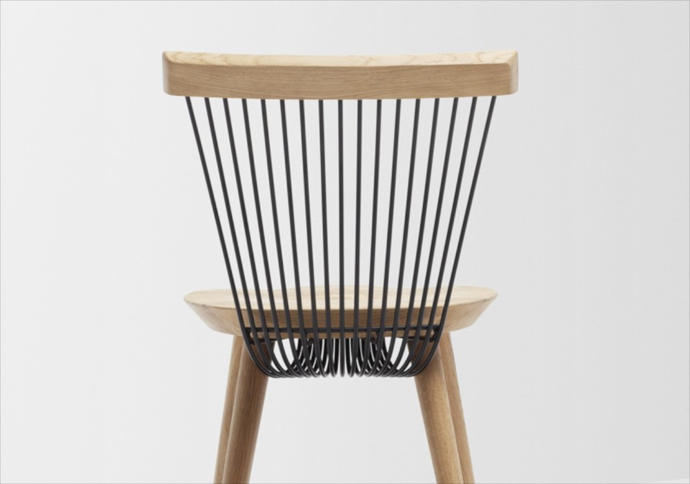 The WW chair (rear view) by H Furniture.