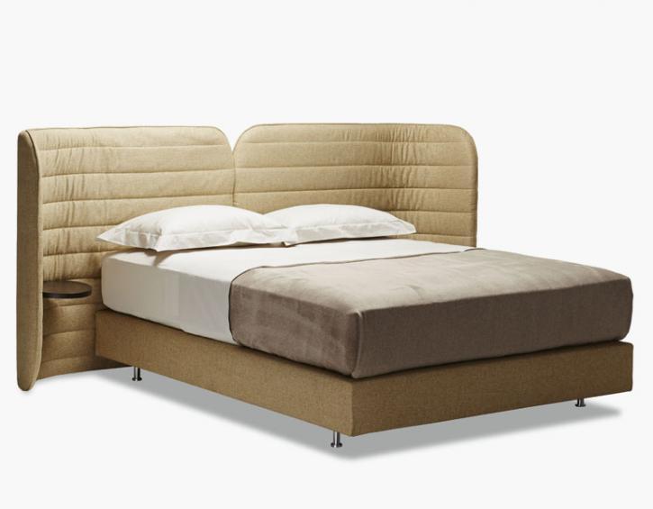 Herkner's 'Calm' bed for Schramm Werkstätten.