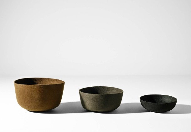 'Gorro' bowls made from felt by the Barbisio Hat factory in Bogata for Ames Sala.