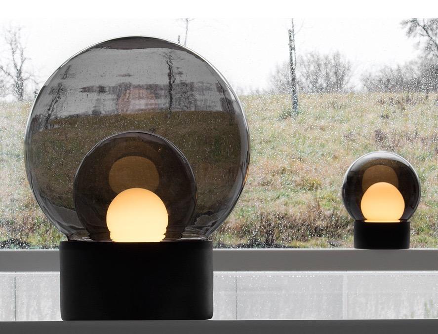 Herkner's 'Boule' table light for Pulpo. A sphere within a sphere within a sphere.