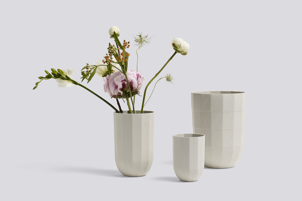Scholten & Baijings' exquisite 'Paper Porcelain' range of cups, beakers, vases and plates are made in Arita, Japan - the country's traditional centre for porcelain. A matt texture & delicate internal glaze complement the facetted forms.