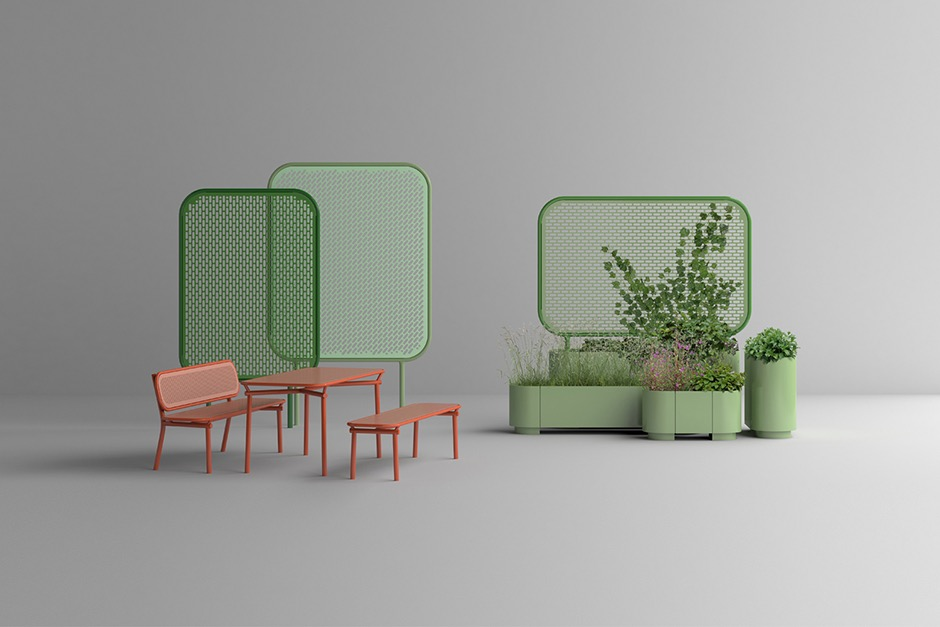 The 'Pop' collection of outdoor pieces by Kristine Five Melvaer for Vestre.