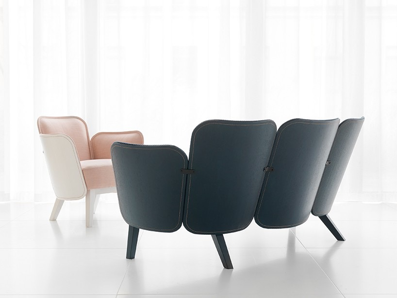 Färg & Blanche's wonderfully delicate and different 'Julius' sofa and armchair for Gärsnäs.