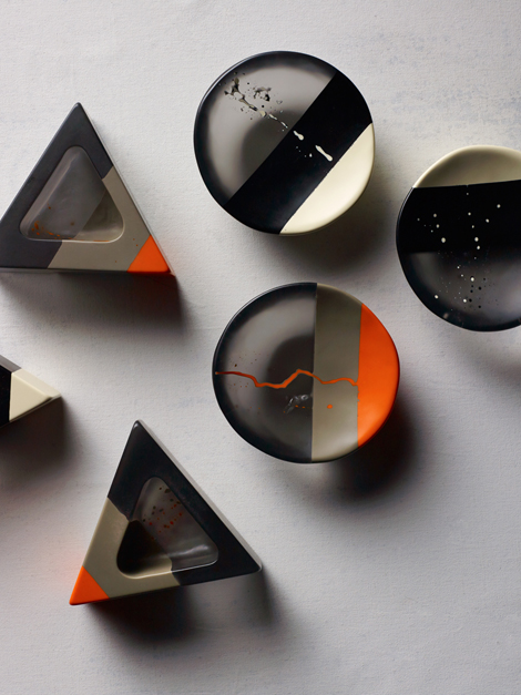 'Art range' dishes by Dinosaur Designs from their Atelier collection 2014.