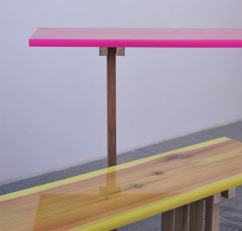 'Flat-Table-Peeled' collection by Jo Nagasaka 2011.