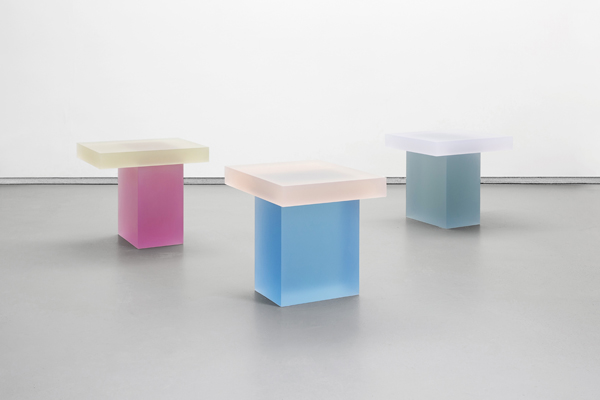 Wonmin Park stools in delicious shades of cast resin, 2015. LImited edition 8 +4 AP Photo: Adrien Millot.