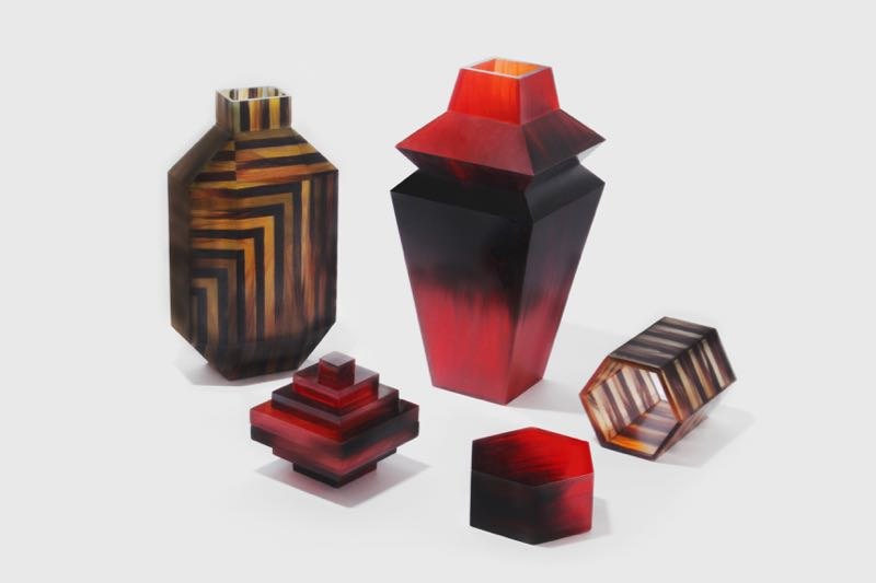 Studio Swine objects from their Hair HIghway project from 2014. The look is Influenced by Shanghai deco.