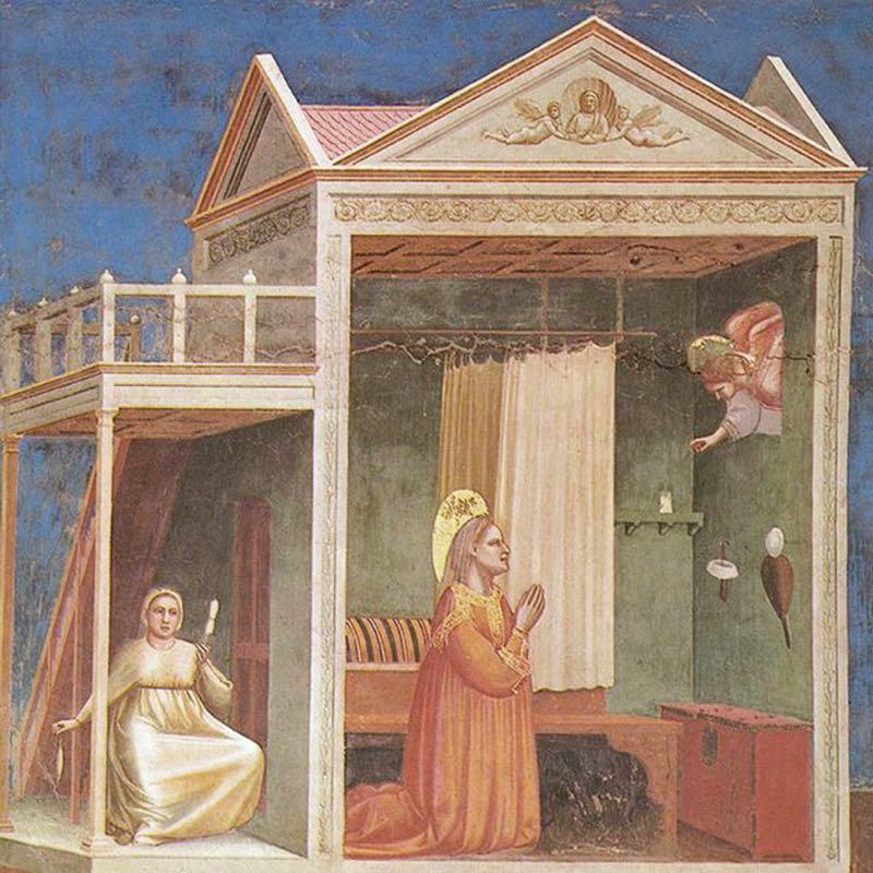 Giotto's 'Annunciazione a sant'Anna', 1303.