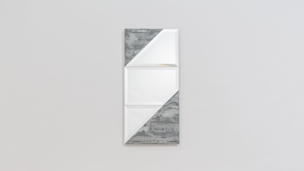 One of the original mirrors designed for the 1+1+1 project by Swedish designer Petra Lilja.