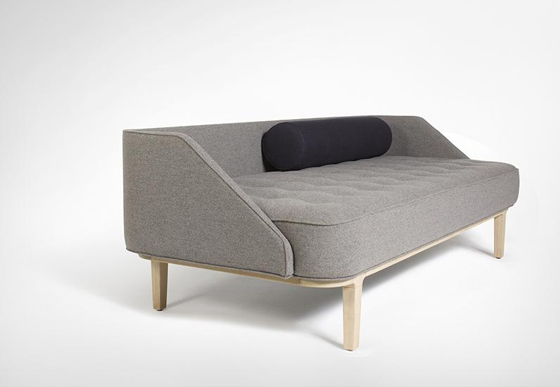 The 'Daybed' by Steffensen & Würtz for Won Design. Button detailing adds a little old world charm to this modern interpretation of a deco daybed.