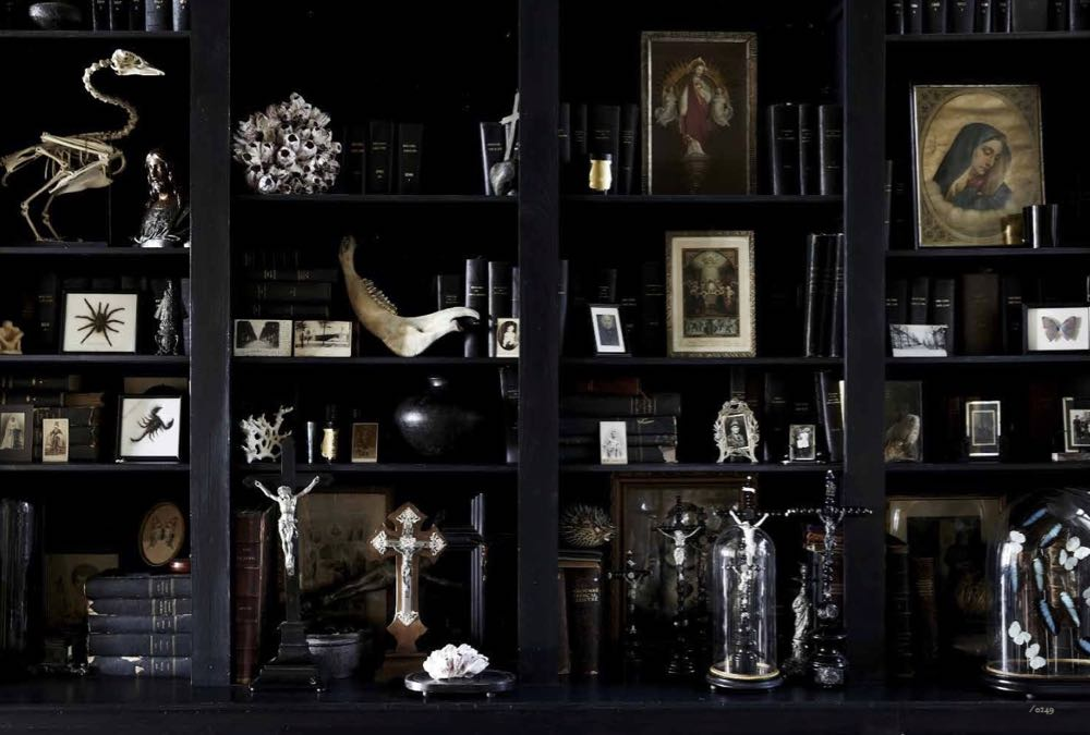 Not so much a curiosity cabinet as a curiosity wall – the ground floor of boutique Antwerp hotel Boulevard Leopold is part animal history museum and part gathering place for the owner's collection of religious artifacts.
