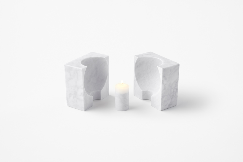 Nendo's marble candle holder for Marsotto.