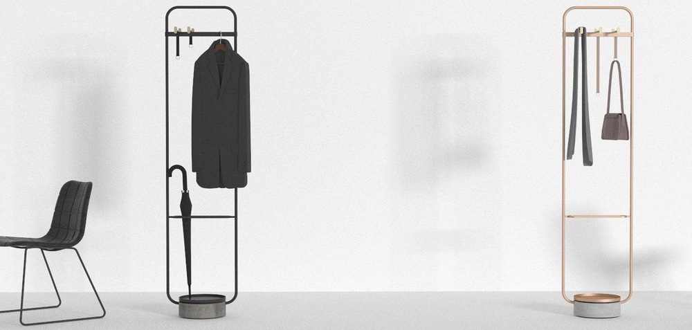 Neri & Hu's 'Hanger' clothes stand for Swedish brand Offecct.