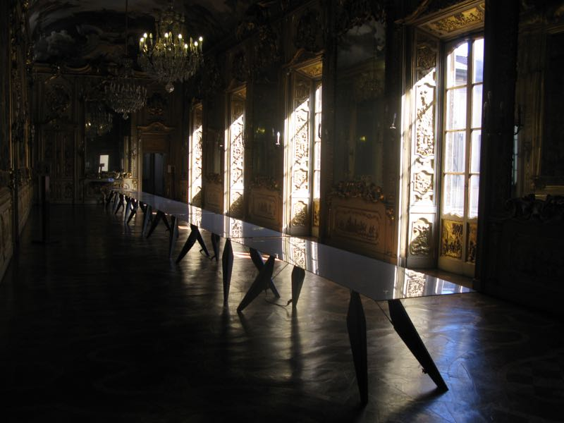 The wonders of Palazzo Clerici with 21st century intervention of SmartSlab tables by Clemens Weisshaar & Reed Kram.