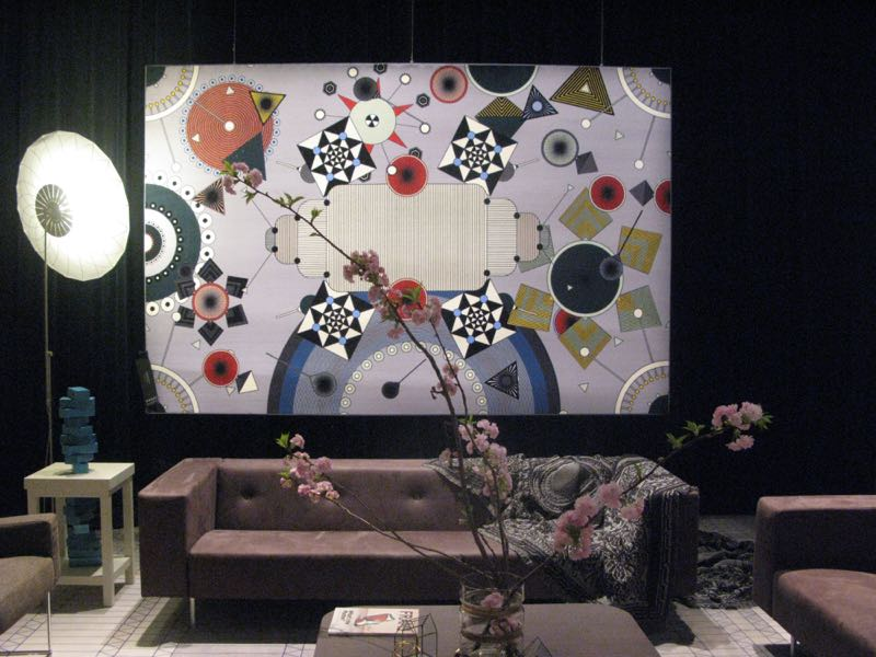 A quiet corner of the Moooi exhibiton in via Savone in the Tortona district.