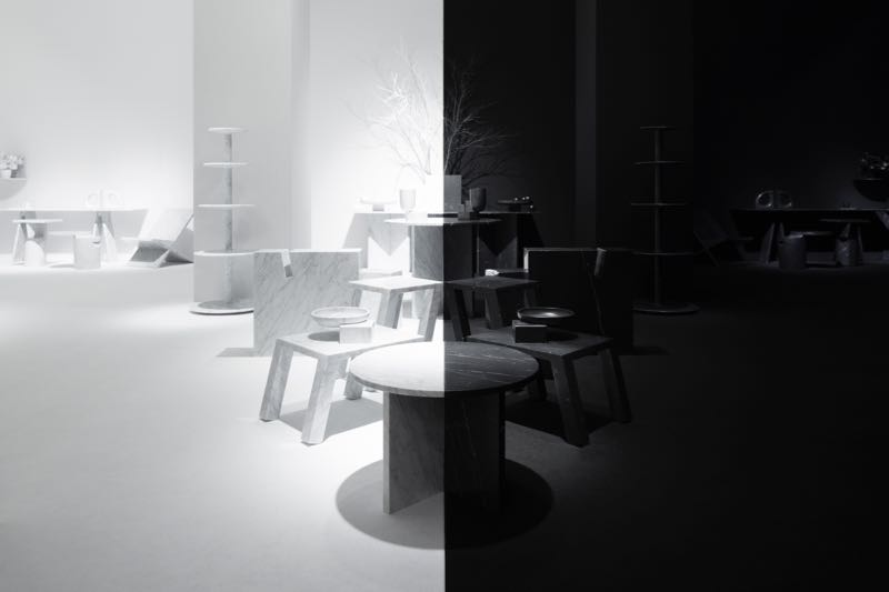 Nendo's Light and Shadow installation for Marsotto Edizioni.