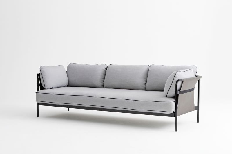 The 'Can' sofa by the Bouroullecs for Hay. A flatpack design, the 3-seater sells for just 1750 euros with multiple frame and fabric options. The sofa can be put together in under 10 minutes and is exceptionally comfortable.