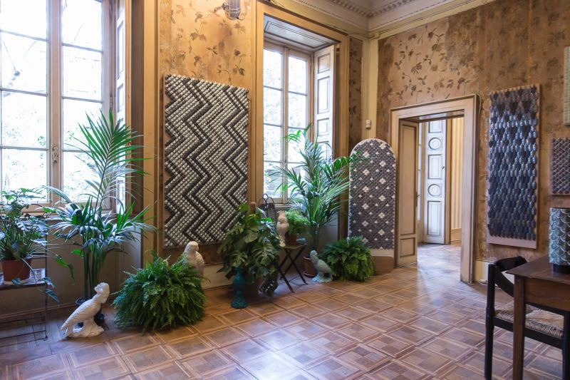 Botteganove exhibited their range of unusual tiles in the faded grandeur of the Ladies & Gentleman venue at 5vie.