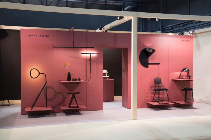 The Daphna Laurens stand at Salone Satellite - a standout for its extremely directional aesthetic.