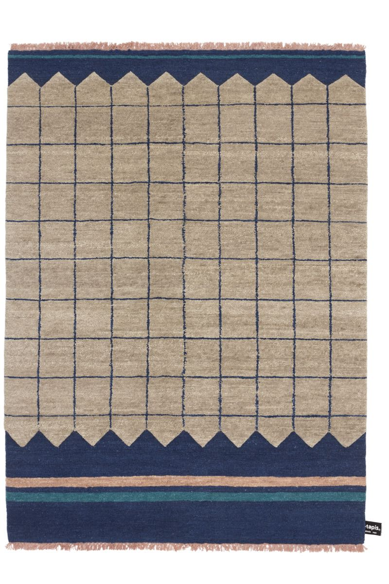Studiopepe's  Quadro Celeste  #1 in beige and blue for cc-tapis.