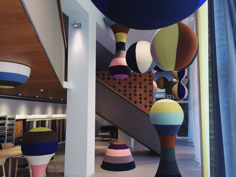 Kvadrat's  Forest Comes Home  installation by  Akira Minagawa at the     Kvadrat showroom  in Corso Monforte.
