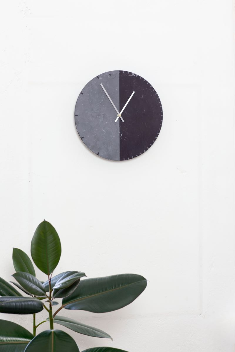 Anna Badur's 'Duo' wall clock. Photo by Simon Beckmann.