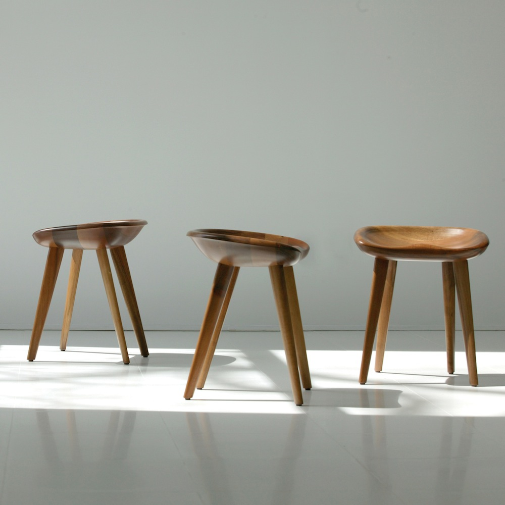 The original 'Tractor' stool by Bassam Fellows is a beautiful thing to behold. It has been heavily copied and extrapolated to form the basis of a variety of strangely proportioned and poorly made bar stools.