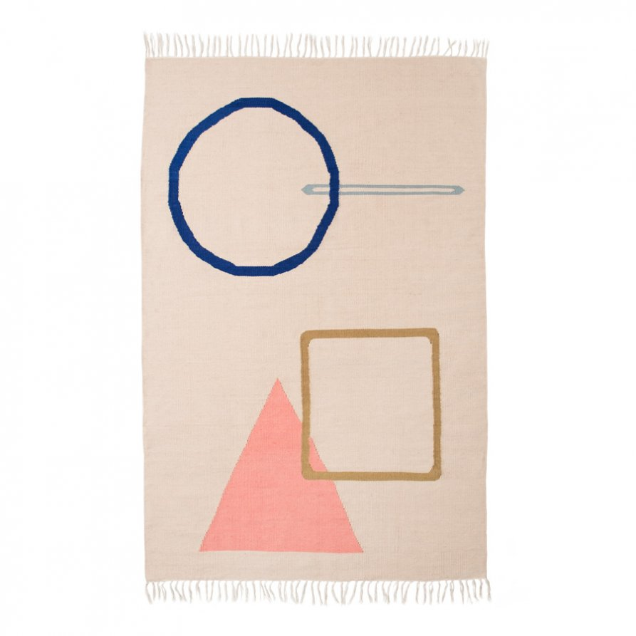 'Desert Shapes' rug by Cindy-Lee Davies for Lightly. 160 x 230 cm.