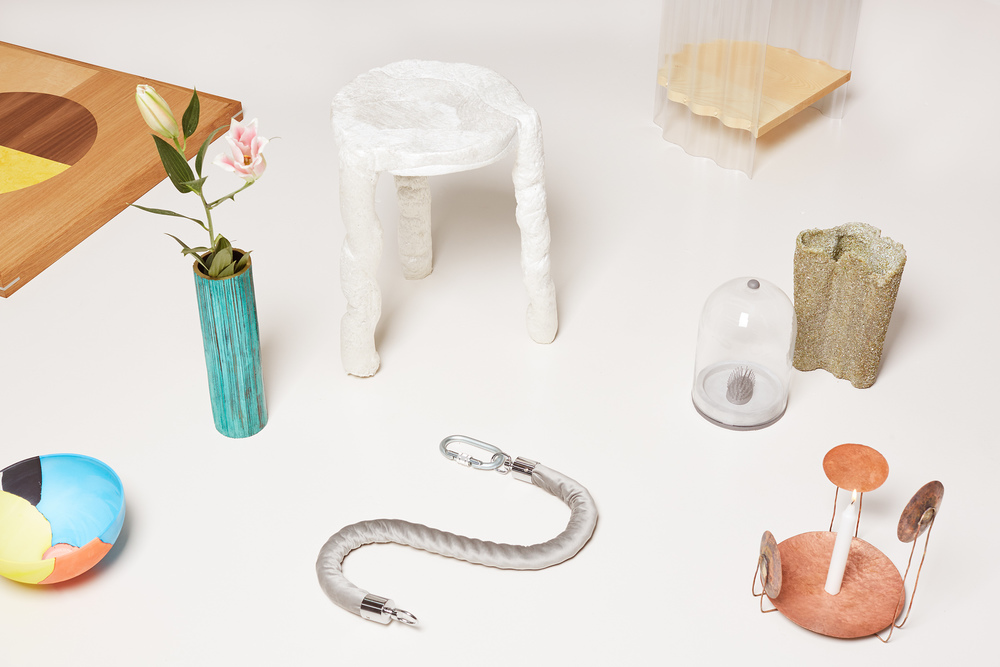 Limited edition design objects from 1-OK CLUB LIVE. Photography Elise Wilken, styling Nat Turnbull.
