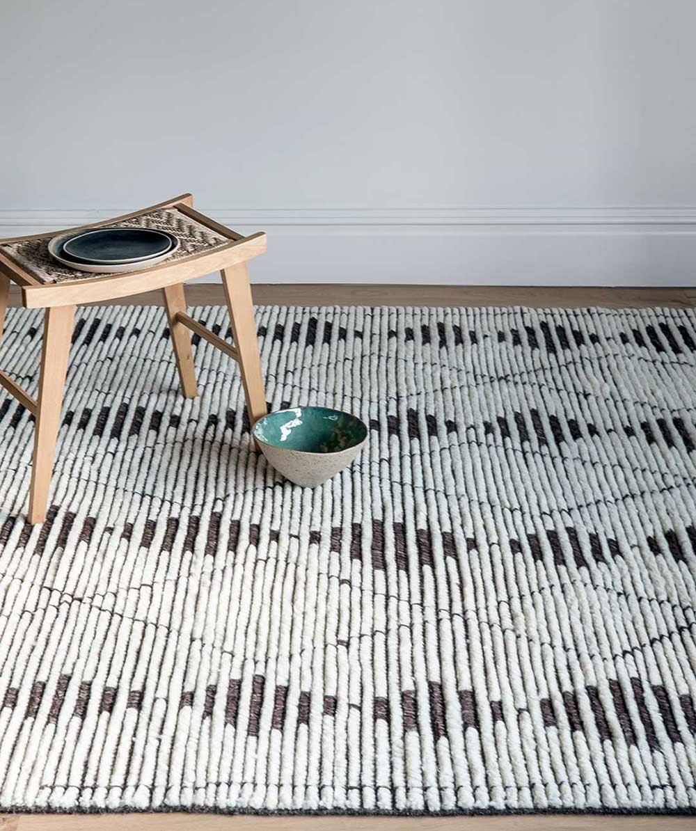 Armadillo & Co's 'Zulu' rug from the extended Lattitude range. Hand knotted in wool in India.