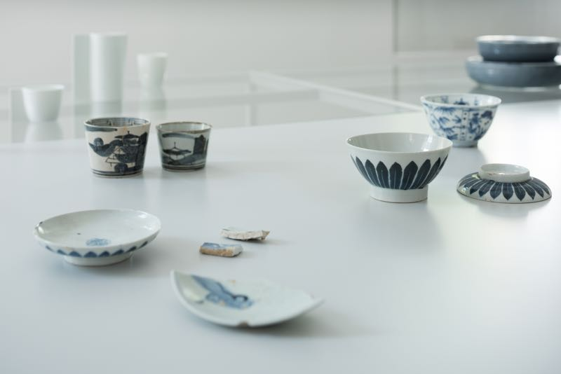 Historical pieces of Arita porcelain.