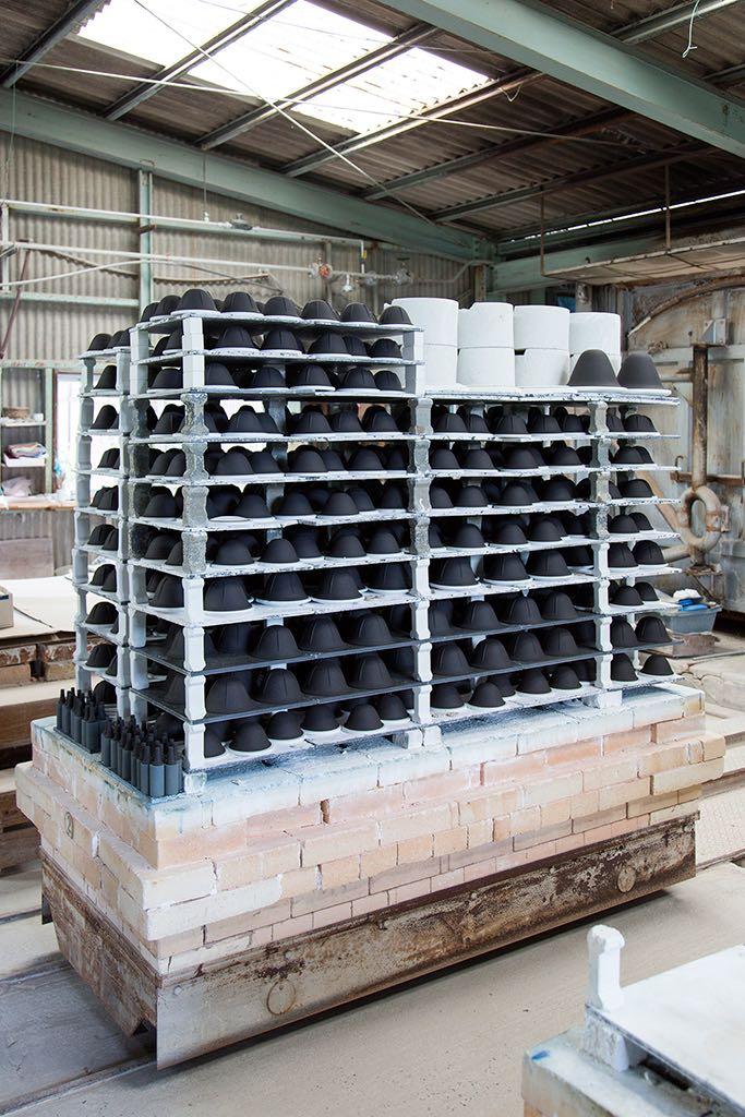 Inside the Kubota Minoru Ceramics factory.Photograph by Kenta Hasegawa.