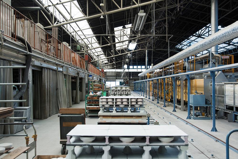 Inside the Housengama factory.Photograph by Kenta Hasegawa.