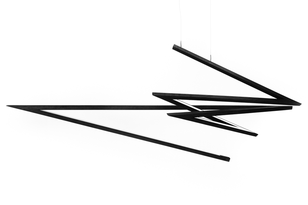Liam Mugavin's 'Sen' LED pendant light is like an expressive gesture in wood.