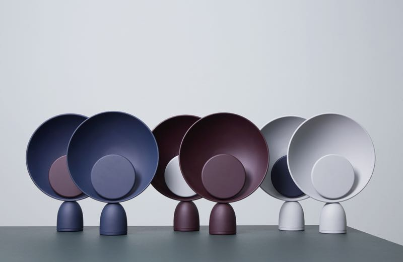 The full array of Danish brand Please Wait To Be Seated's 'Planet' table lamp (It has now been given a new name: the 'Blooper table lamp'). The light was designed by Mette Schelde and has been nominated for a Danish design award.
