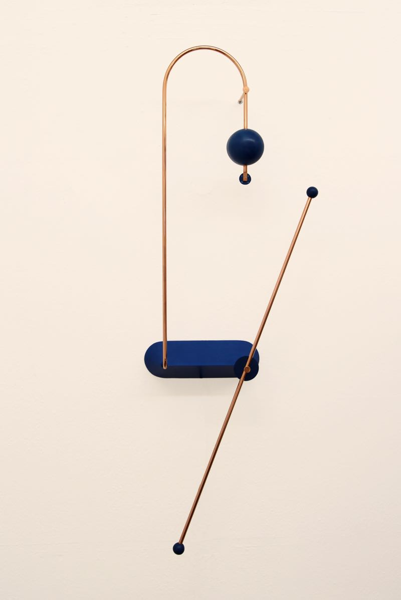 Odd Matters' 'Node' light in the wall mounted form. The long rod acts as a poetic on/off switch.