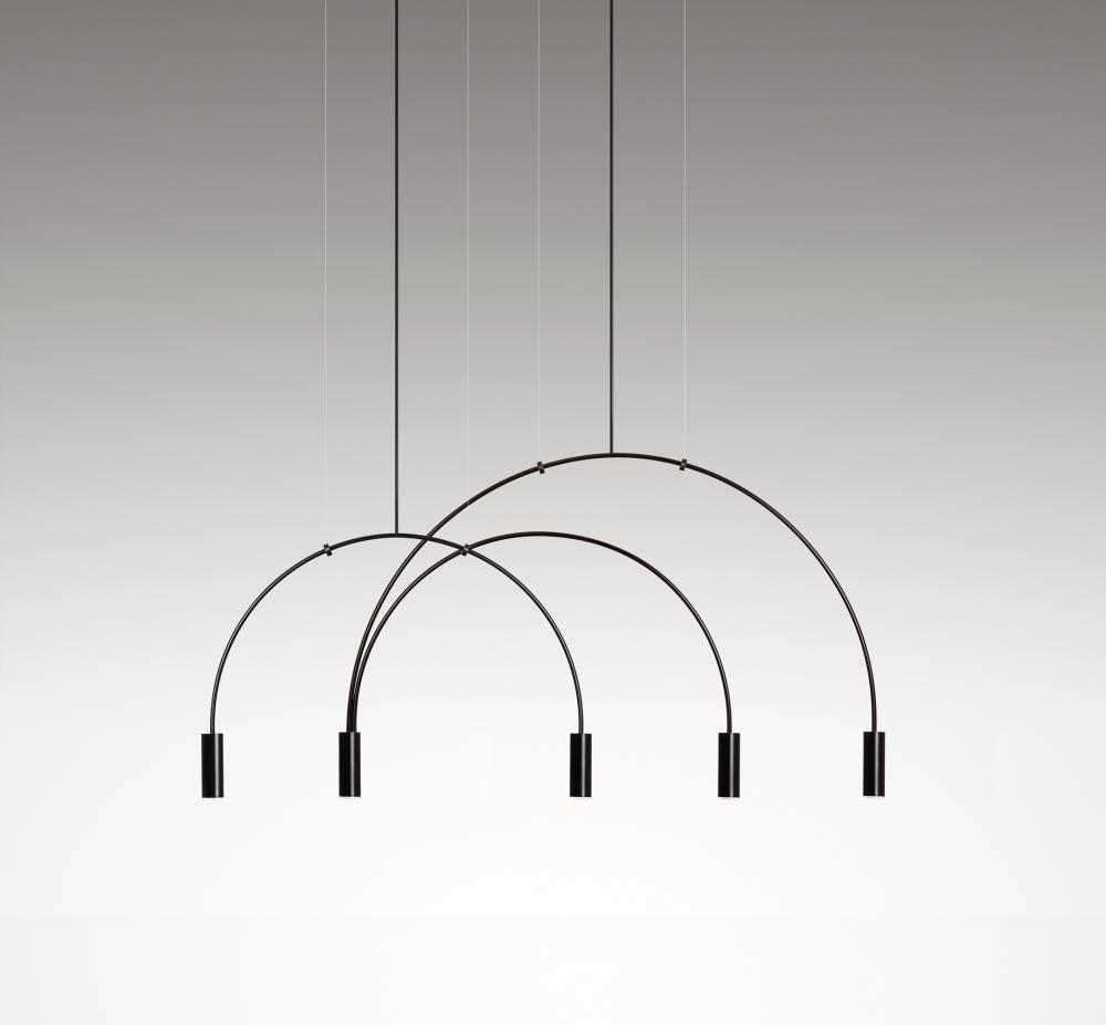 The 'Volta' pendant light by Nahtrang Design for Spanish brand Estiluz. The light comes in a wide variety of configurations.